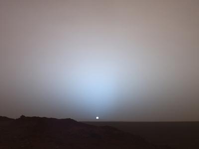 火星から見た日没の写真が話題に01