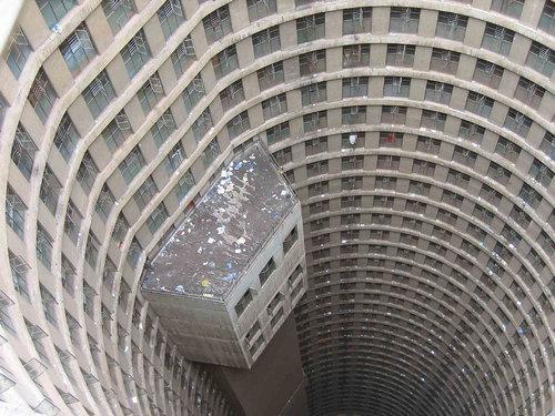 南アフリカの円柱のスラム街01