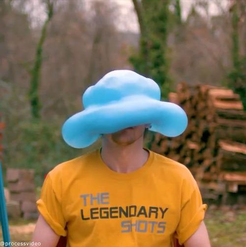 水風船が帽子みたいに04