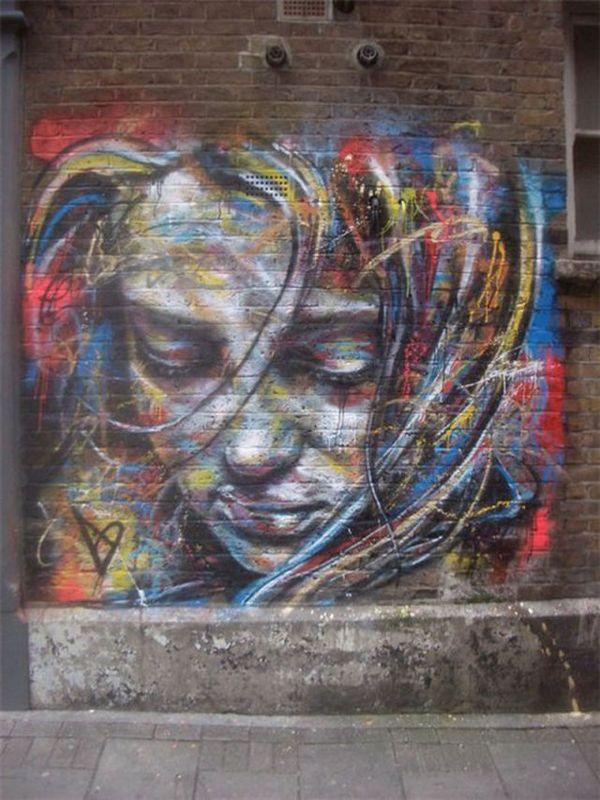 悲しみを感じるストリートアート