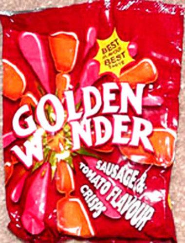 金色の不思議なソーセージとトマト、英国
