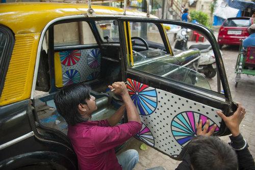 インドのタクシー06