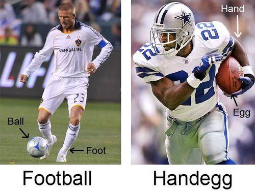 アメフトとサッカーとフットボール01