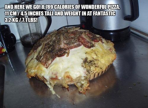 9000kcalのピザ14