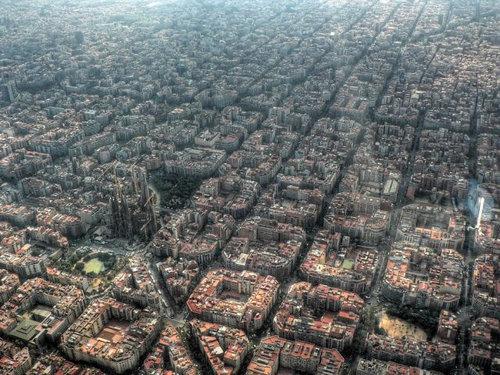 上空から見た都市01