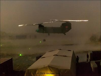 光るヘリコプターのプロペラ02