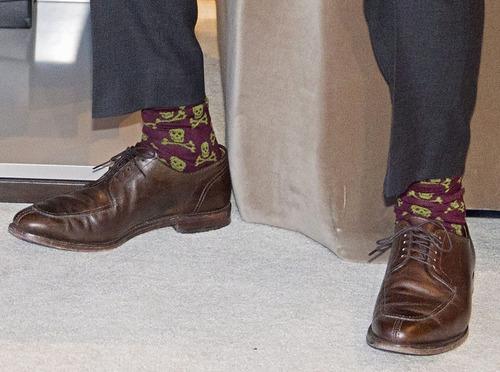 カナダ首相の靴下10