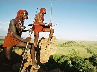 マサイ族がロンドン旅行