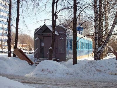 ロシアの列車の教会01