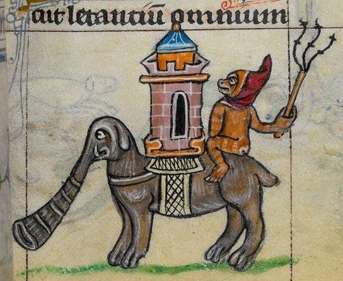 中世の想像で描かれたゾウ02