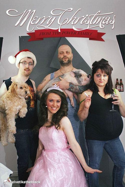 過去4年の家族の自作クリスマスカード02
