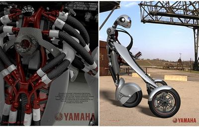 変形・装着するバイク01