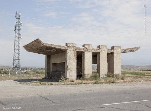 ソ連のバス停10