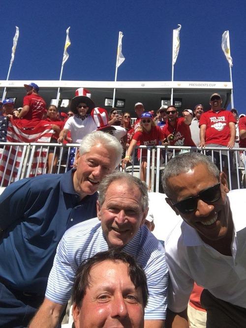 アメリカ大統領3人と自撮り01