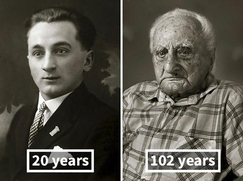 100歳越えの人の若い頃10