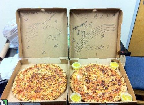 ピザのデリバリーの絵09