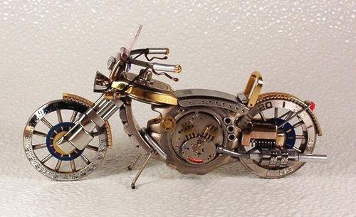 時計で作ったバイク07