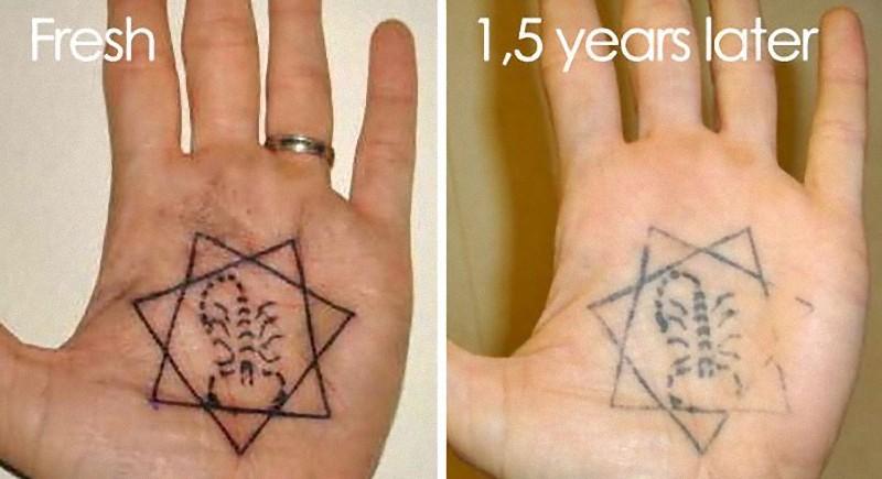 タトゥーの劣化21