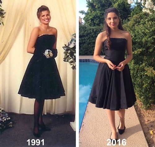 母親のドレスを着るアメリカの女子高生たち02