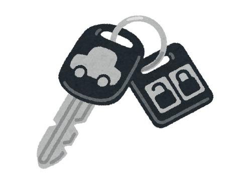 ジョギング中に車のキーをなくした