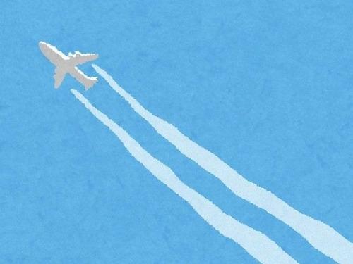 飛行機で自分の前に座ってる女性