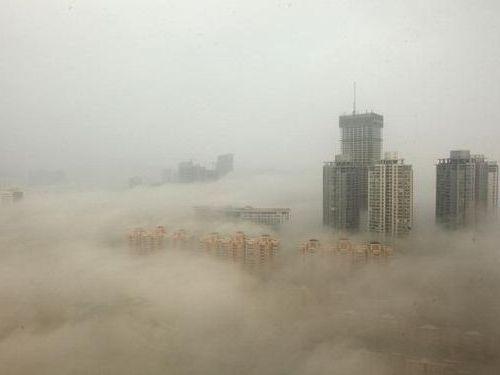 北京の大気汚染に最も深刻な赤色警報00