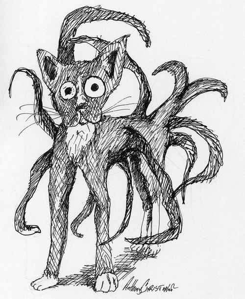 足の長い黒猫03