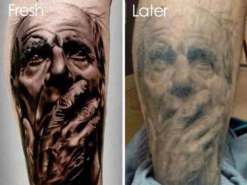 タトゥーの劣化00