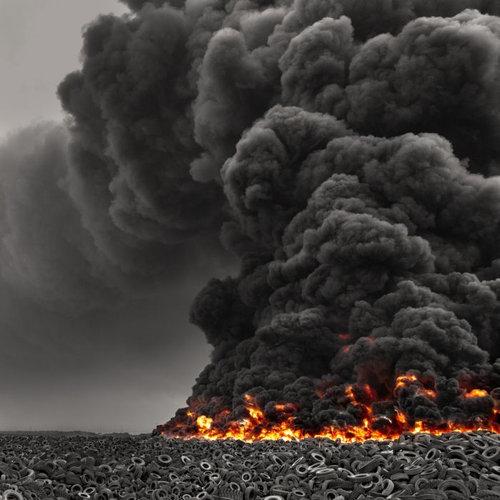 クウェートのタイヤ廃棄07