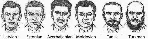 ソ連が使っていた人種別スケッチ01-3