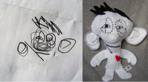 子供の絵を「ぬいぐるみ」にしたら18
