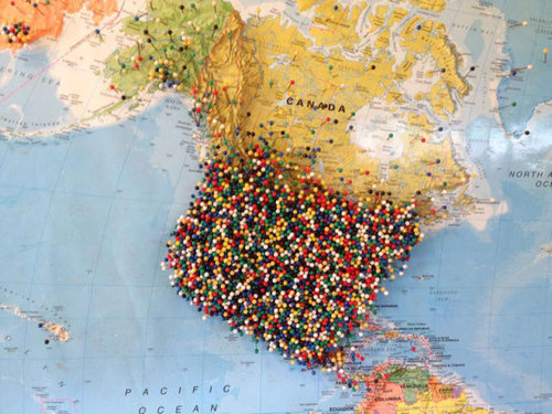 世界地図にピン04
