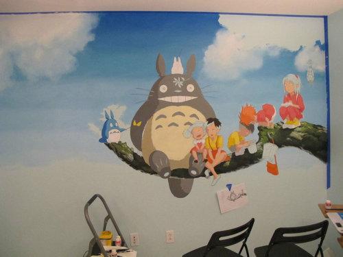子供部屋に描いたジブリ06