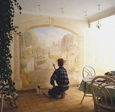 壁の絵が立体的に見えるアート10