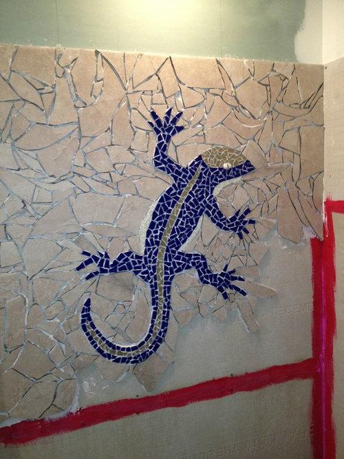 シャワー室の平凡なタイルをクールなデザインに04