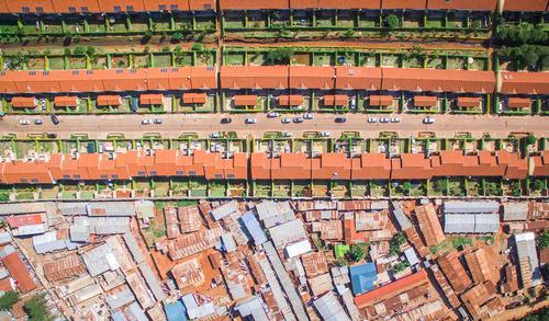 南アフリカの空から見た貧富の差03