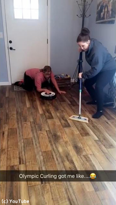 お掃除ロボットでカーリング01