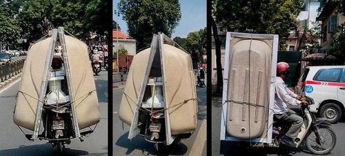 バイクで物を運ぶ限界09