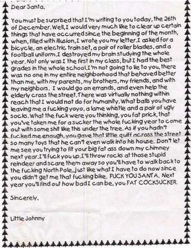 サンタクロースへの手紙