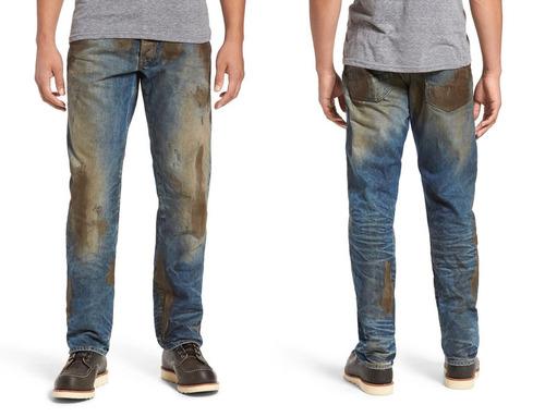 前もって汚したジーンズ01