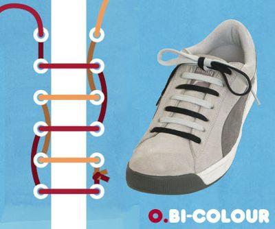 靴ひも・結び方15 1. 2本