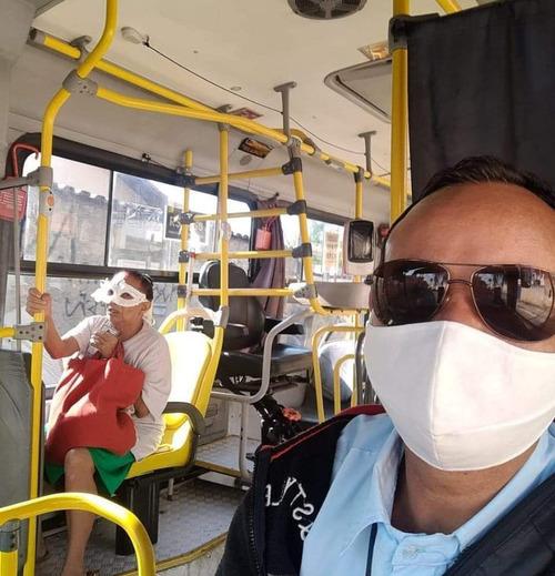 ブラジルのマスク着用風景01