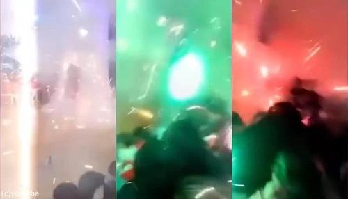 学芸会で間違ってアウトドア用の花火02