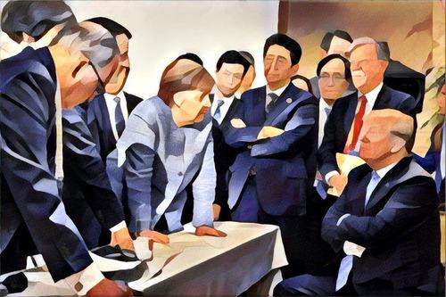 G7での張り詰めた空気03