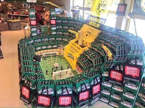 ドイツのスーパーマーケットのビールの宣伝01