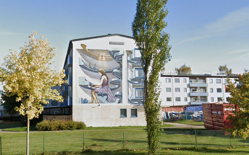 スウェーデンのアパートのグラフィティ02
