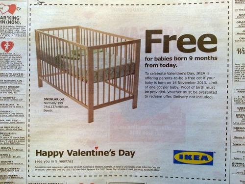 バレンタイン用のIKEAの広告01