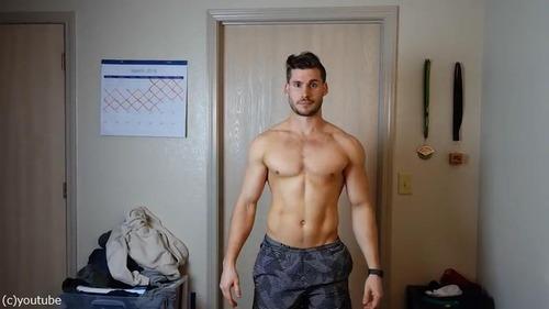 男性の3か月のダイエット動画06