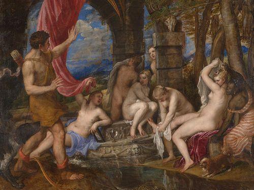 女性の入浴しているところを覗くアート00