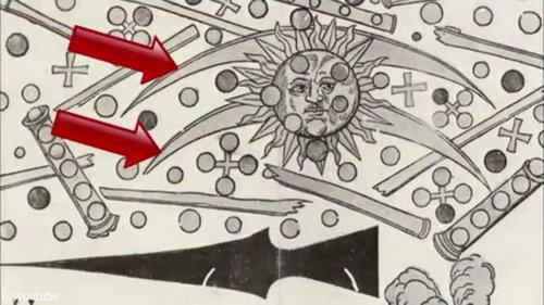 1561年の上空で謎の飛行物体が戦った記録07